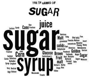 56 names of sugar infographic